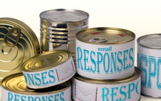 Use Google Inbox templates for canned responses.