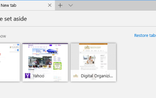 Microsoft Edge help you to manage your browser tabs.